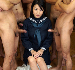 Troubled asian schoolgirl takes..