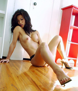 Sexy asian goddess naked on the floor..